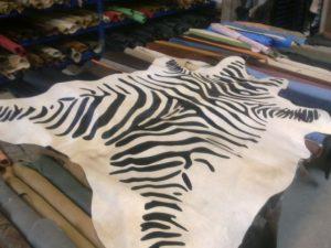Koeienhuid met zebraprint
