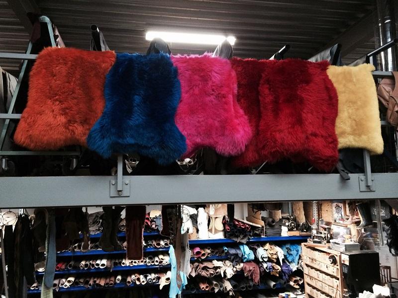 Gekleurde schapenvachten